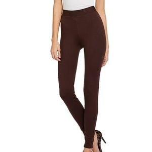 Vince Brown Ponte Seam Leggings